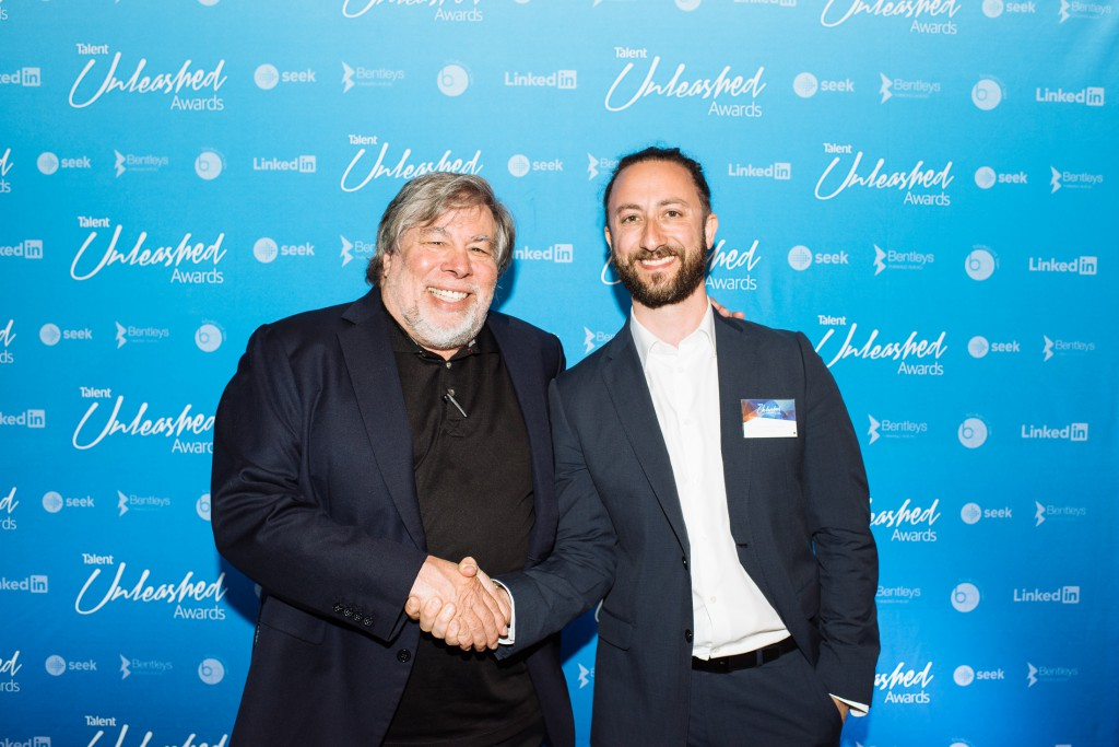 Francesco Costarelli, Global Winner Best Digital SME with Woz